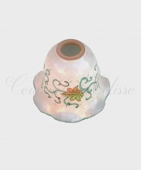 Coppetta Applique in ceramica di Vietri con Merletto Decorata floreale