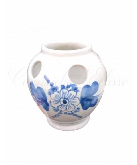 Portaspazzolino in ceramica di vietri fiore blu