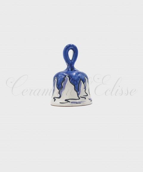 Campanella Natalizia Ceramica di Vietri Casetta Innevata