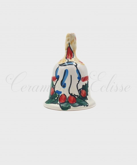 Campanella Natalizia in Ceramica di Vietri Candela front
