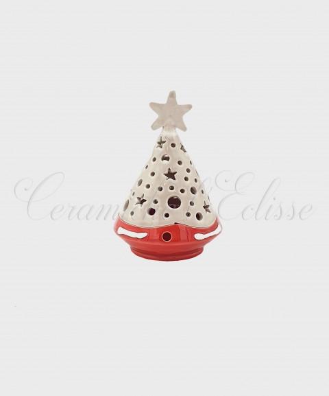Lanterna Natalizia ad Albero di Natale Traforato con Stelle