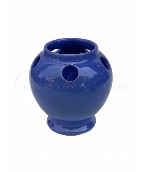 Portaspazzolino in ceramica di vietri moderno monocromatico blu