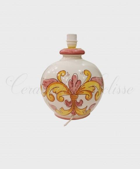 Lampada da Tavolo in Ceramica di vietri Fiorata Bouquet
