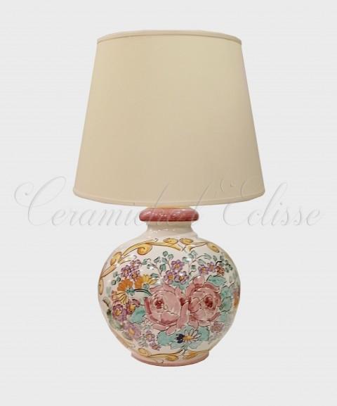 Lampade In Ceramica Di Vietri.Lampada Da Tavolo In Ceramica Di Vietri Fiorata Bouquet
