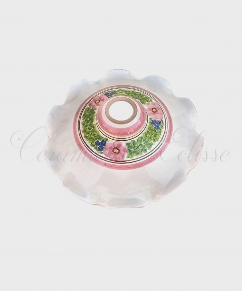Lampadario in Ceramica di Vietri Pieno Fiore di Maio esterno