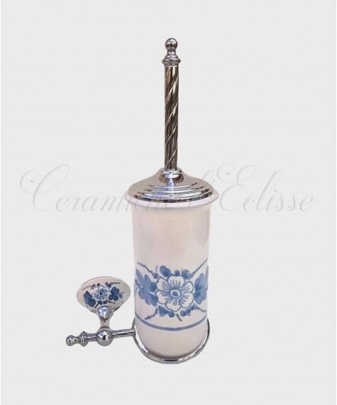 Portascopino Sospeso in Ceramica di Vietri blu