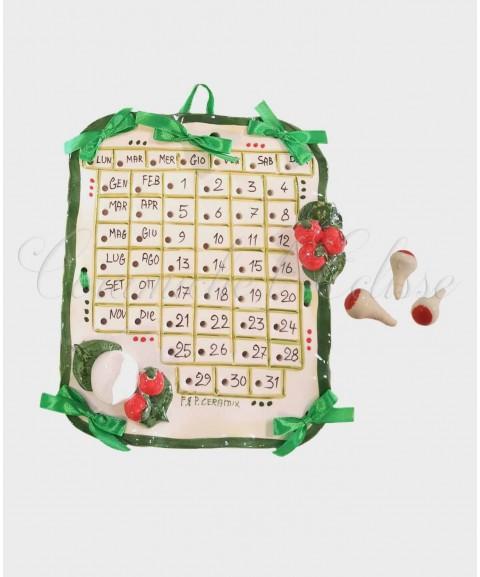 Calendario da Parete in Ceramica di Vietri con Pioli
