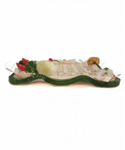 Calendario in Ceramica di Vietri decoro caprese laterale