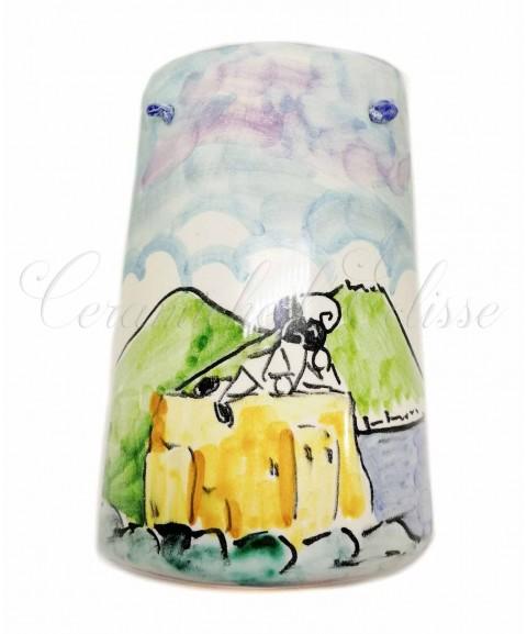 Tegola decorata a mano in ceramica artistica