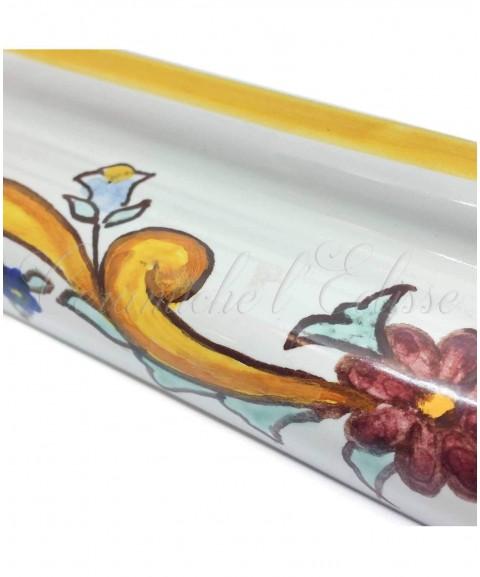 Toro london bordo piastrelle ceramica di vietri baronetto particolare