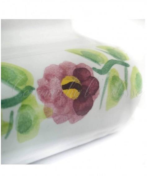 Toro london bordo piastrelle ceramica di vietri particolare fiore