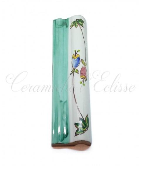 Toro london bordo piastrelle ceramica di vietri tulipani laterali