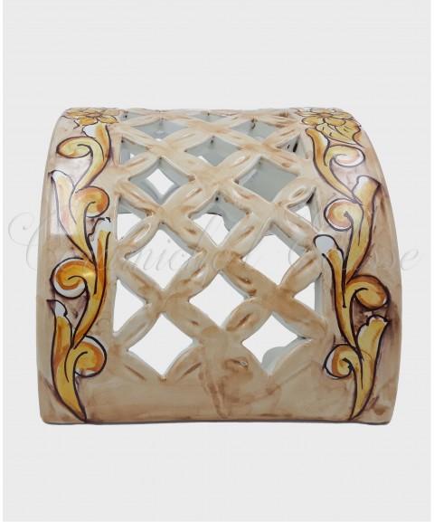 Applique da Parete Traforato in Ceramica di Vietri barocco beige
