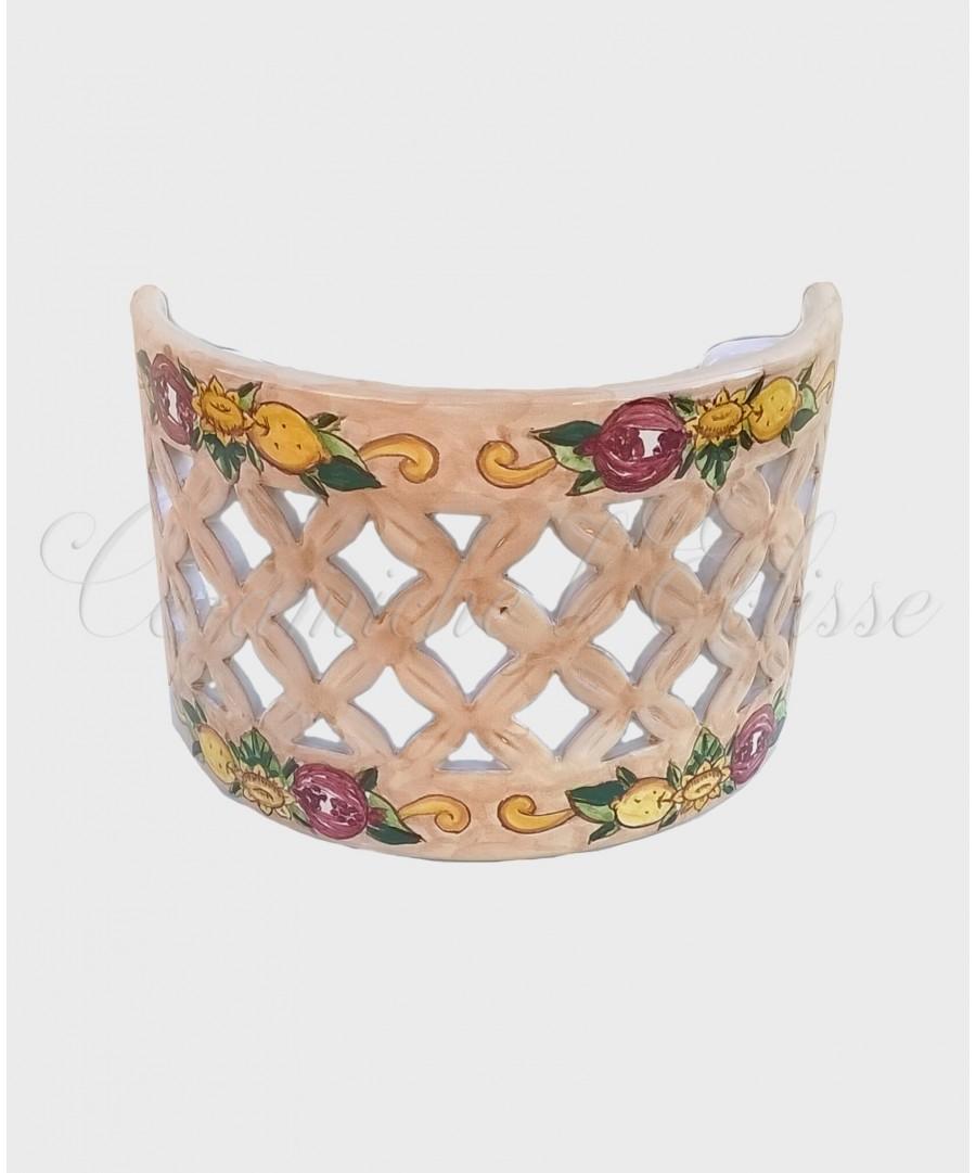 Applique da Parete Traforato in Ceramica di Vietri barocco austria beige