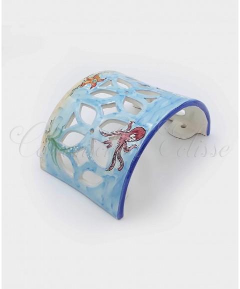 Applique da Parete in Ceramica di Vietri Fondo Marino