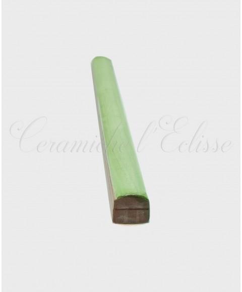 Listello Matita Piastrella in ceramica di Vietri 1x20cm verde