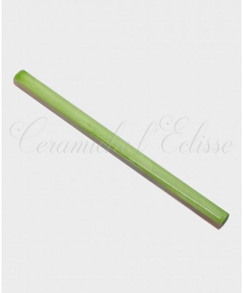 Listello Matita Piastrella in ceramica di Vietri 1x20cm verde erba